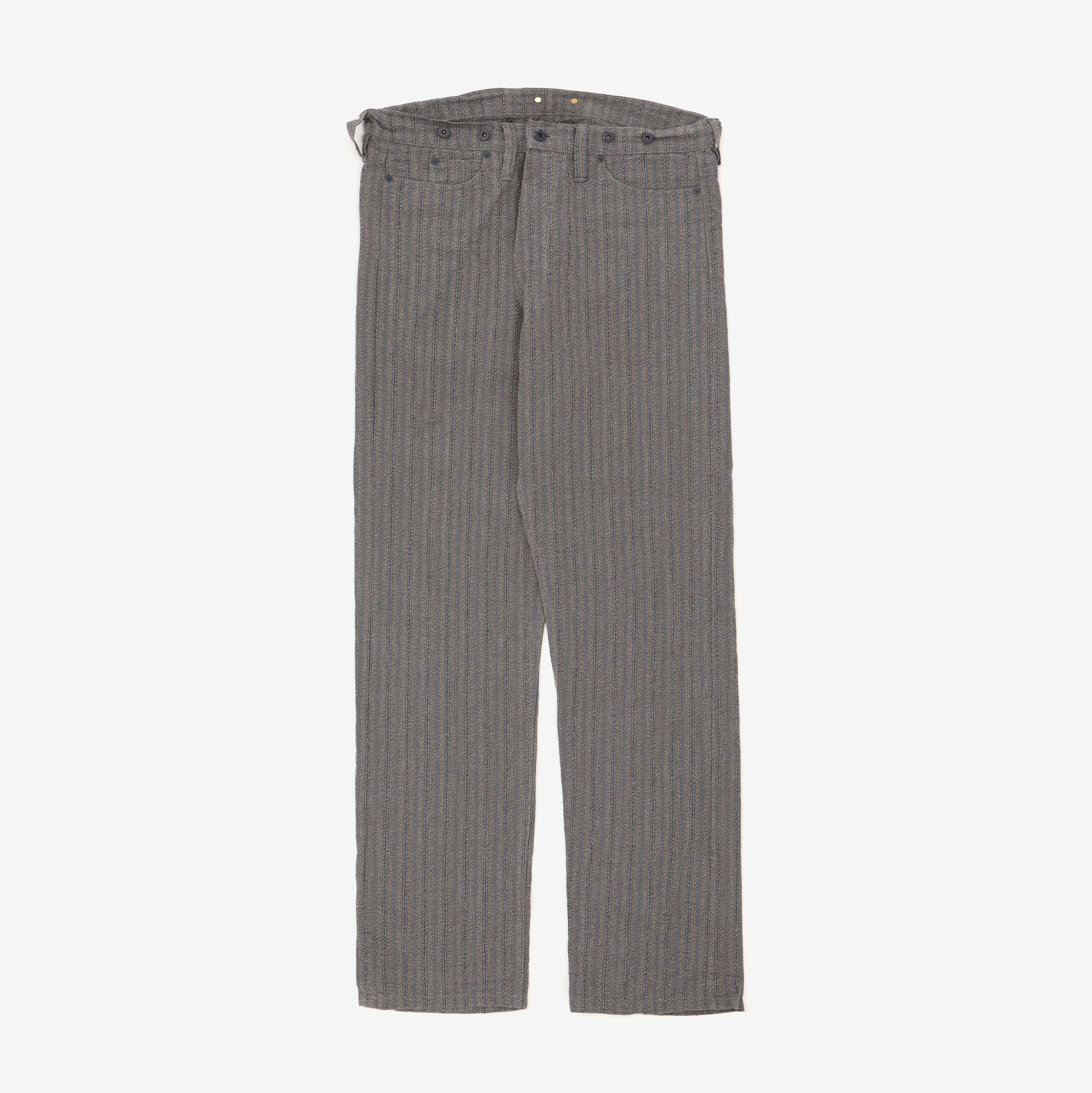 Cinch Back Stripe Formal Trousers