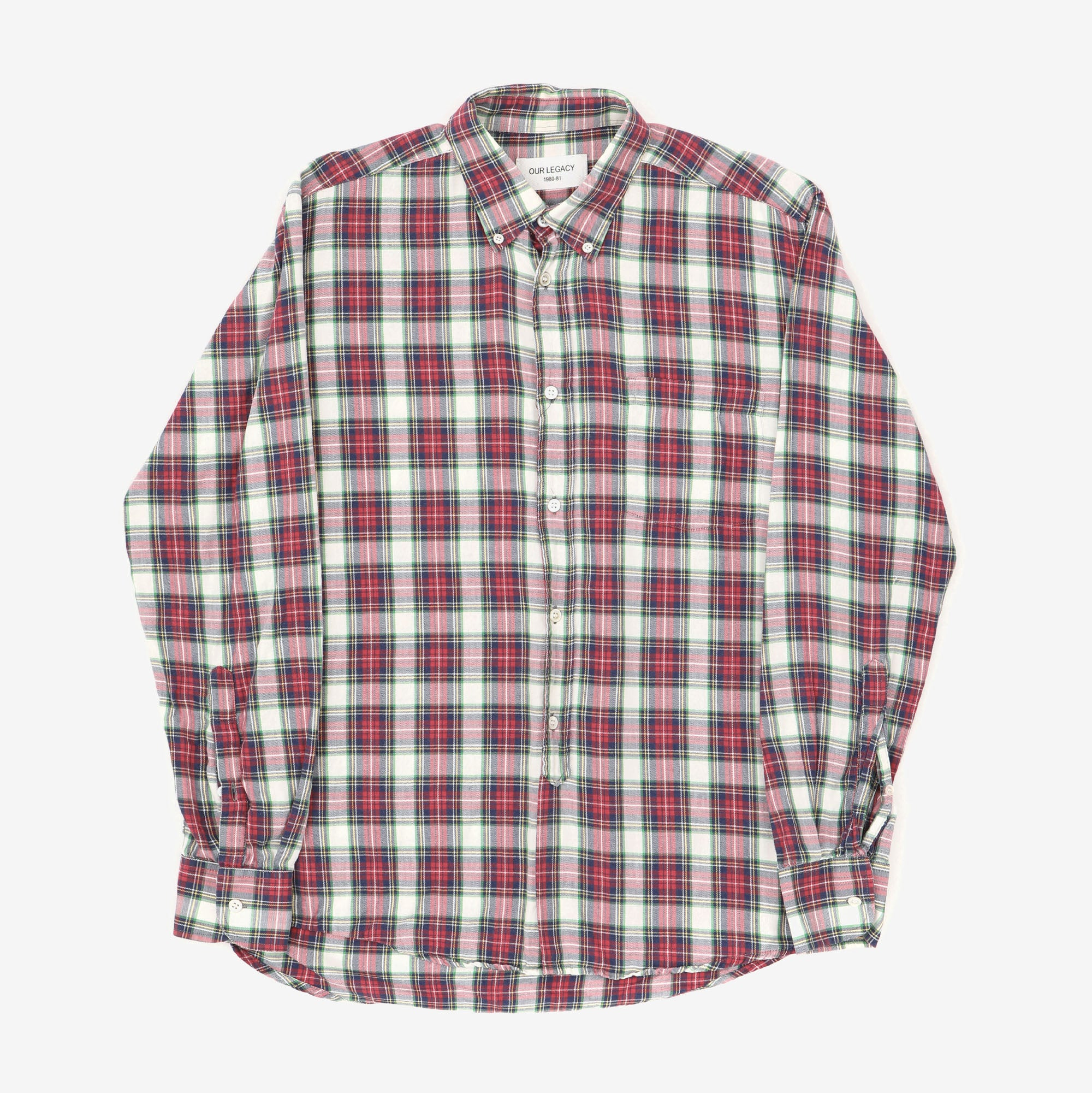 1980's Check Flannel Shirt