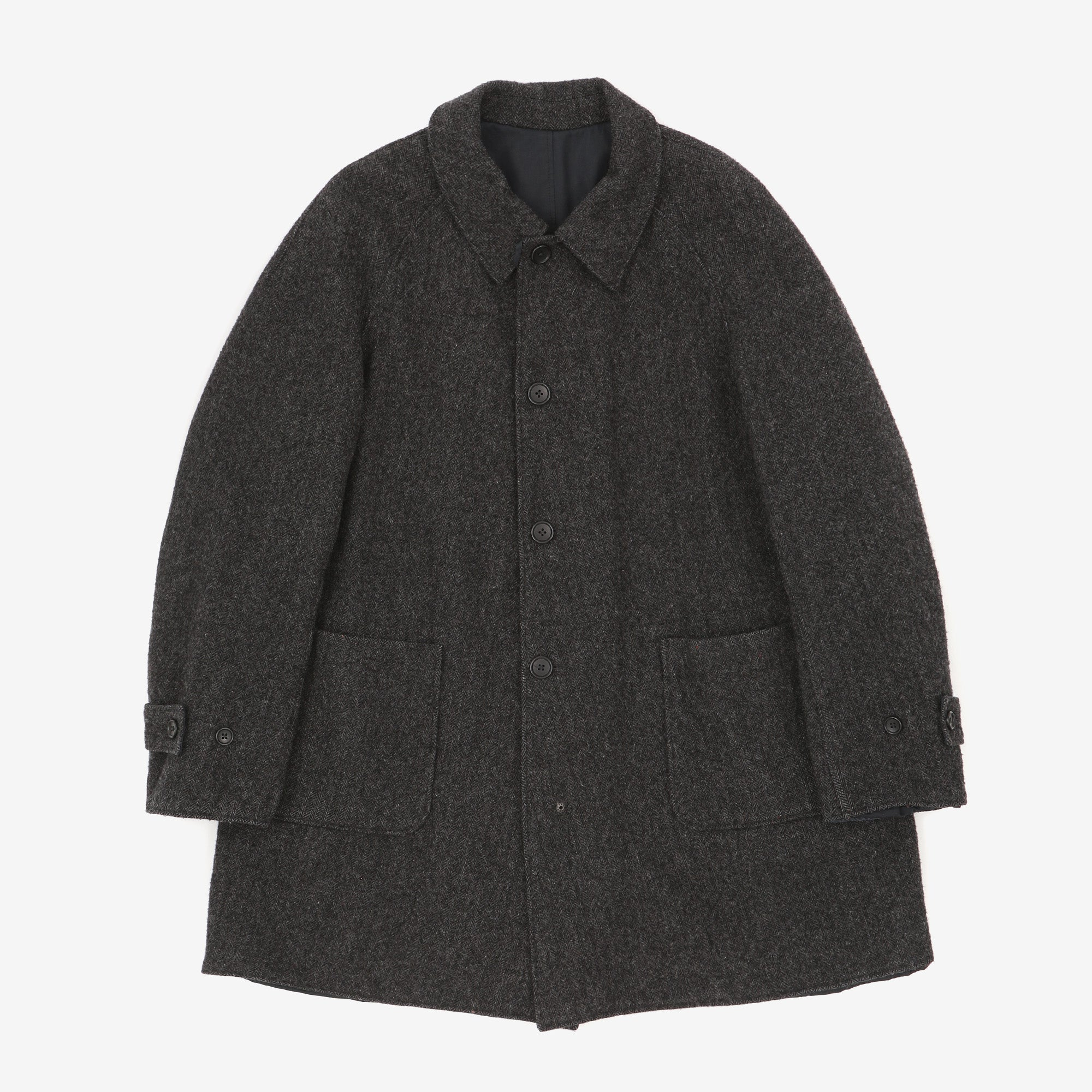 Tweed Wool Long Coat