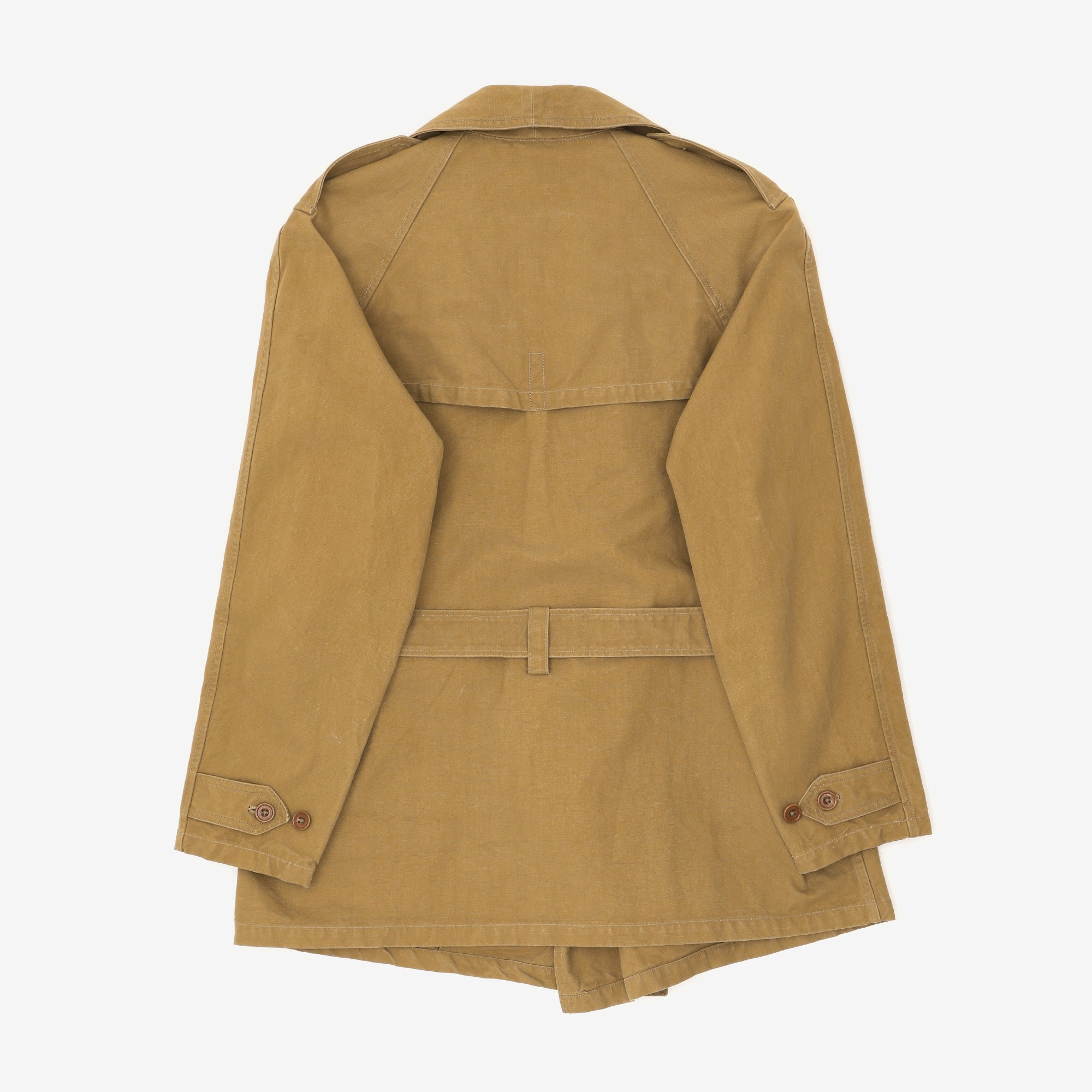 Canvas Belted Trench Coat