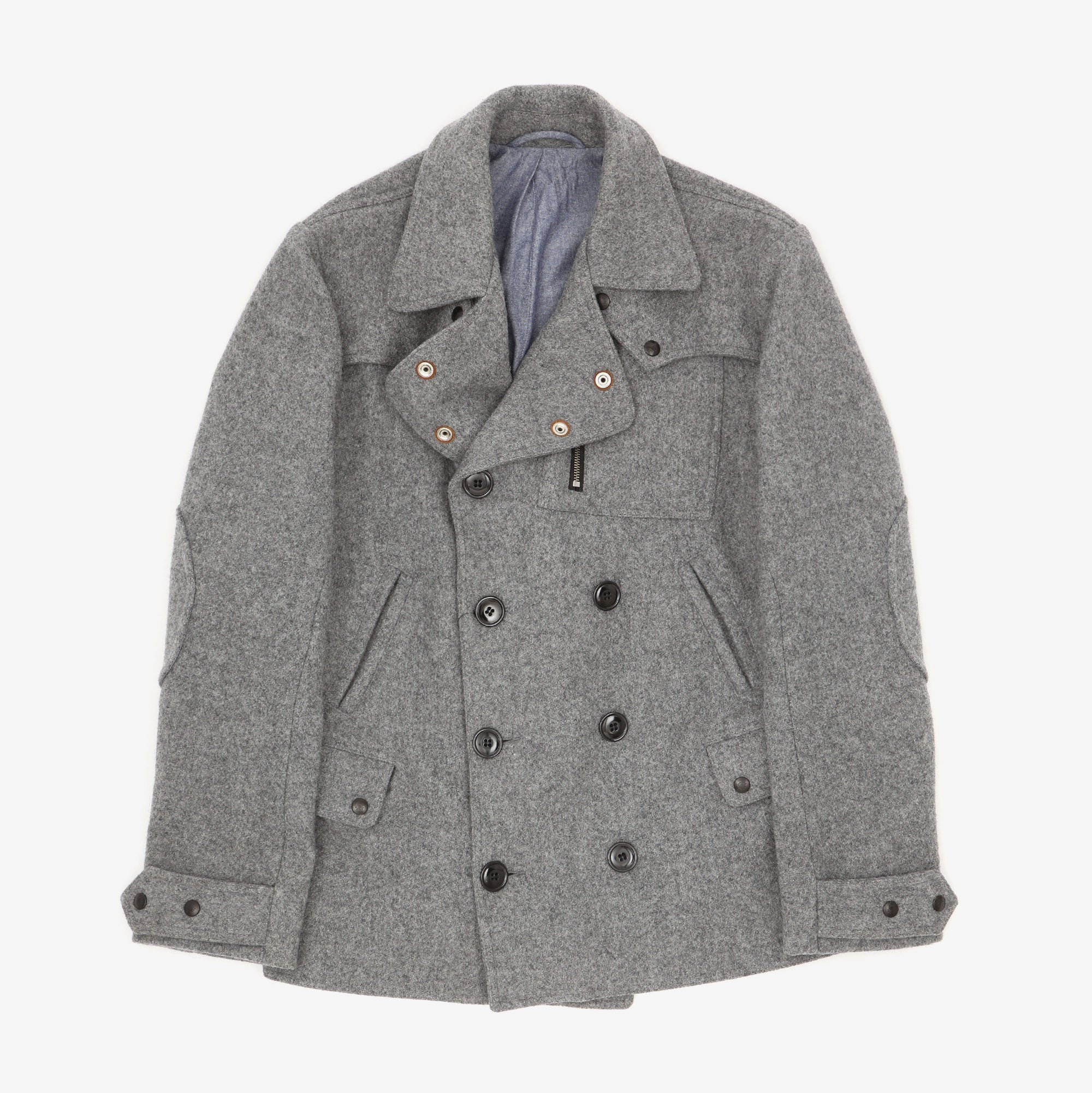 Double Breasted Wool Riders Coat