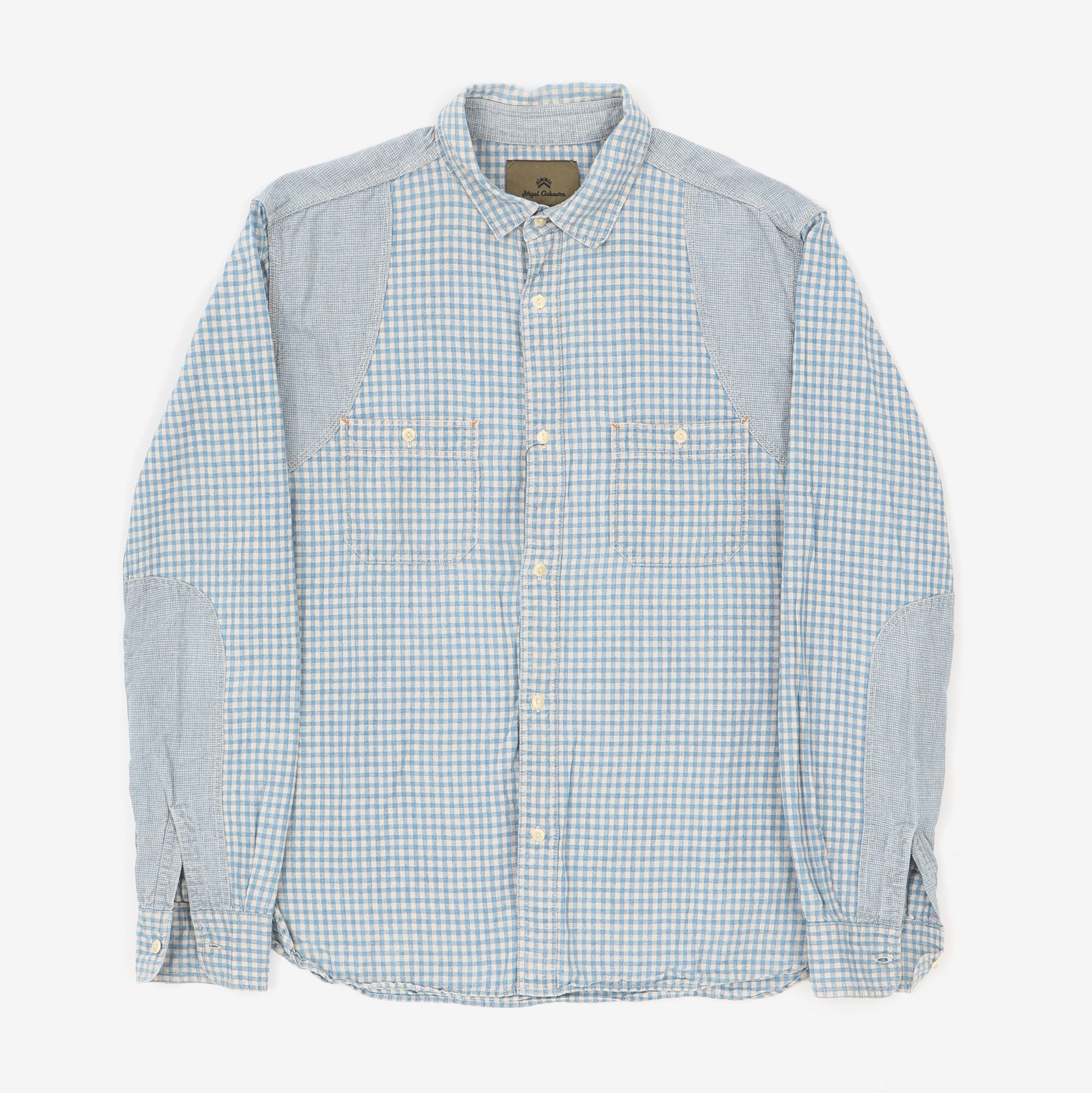 Patchwork Check Medical Shirt