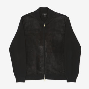 Suede Front Bomber Jacket