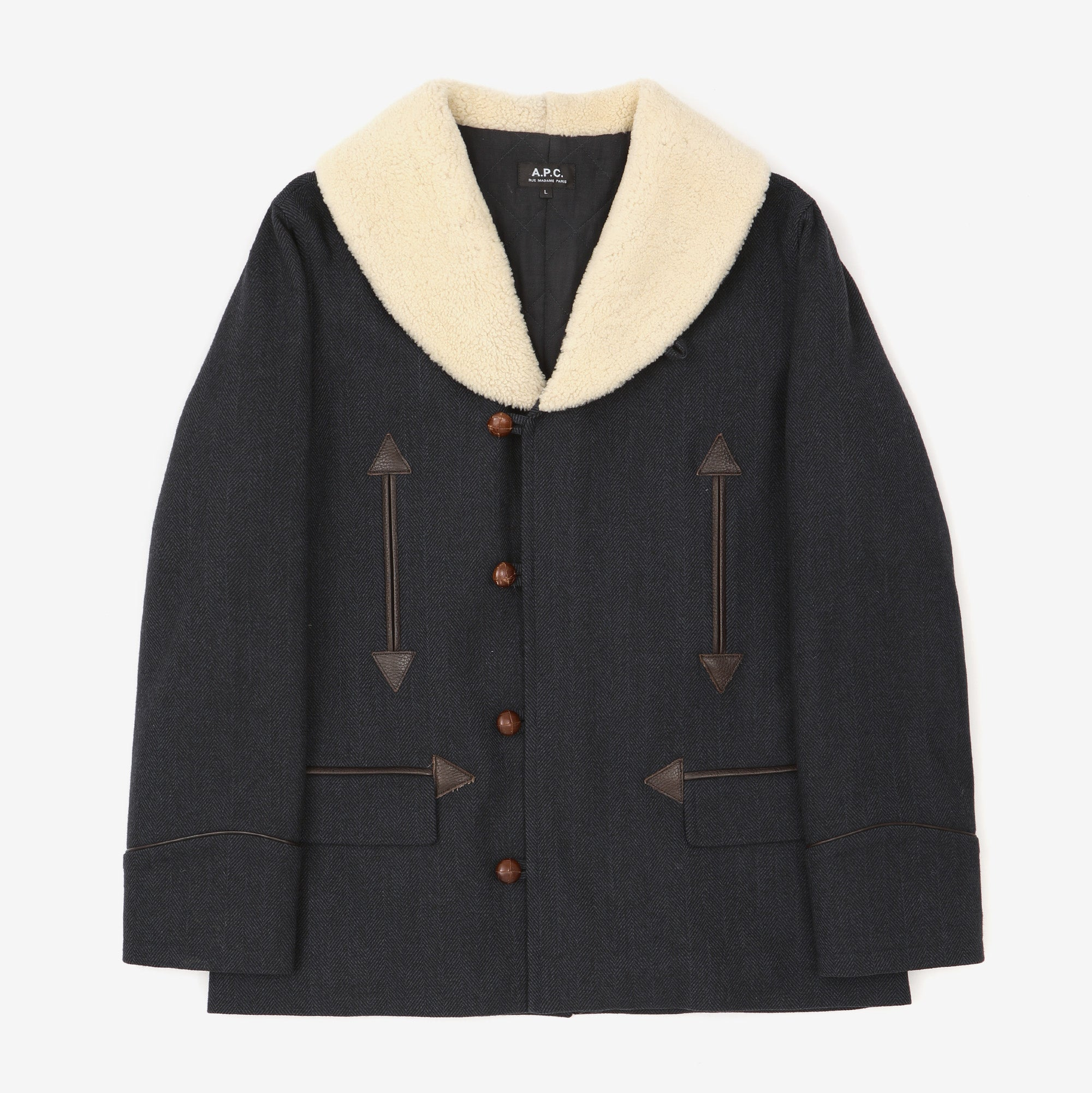 Shearling Collar Coat