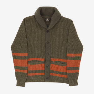 Chunky Knit Shawl Collar Cardigan
