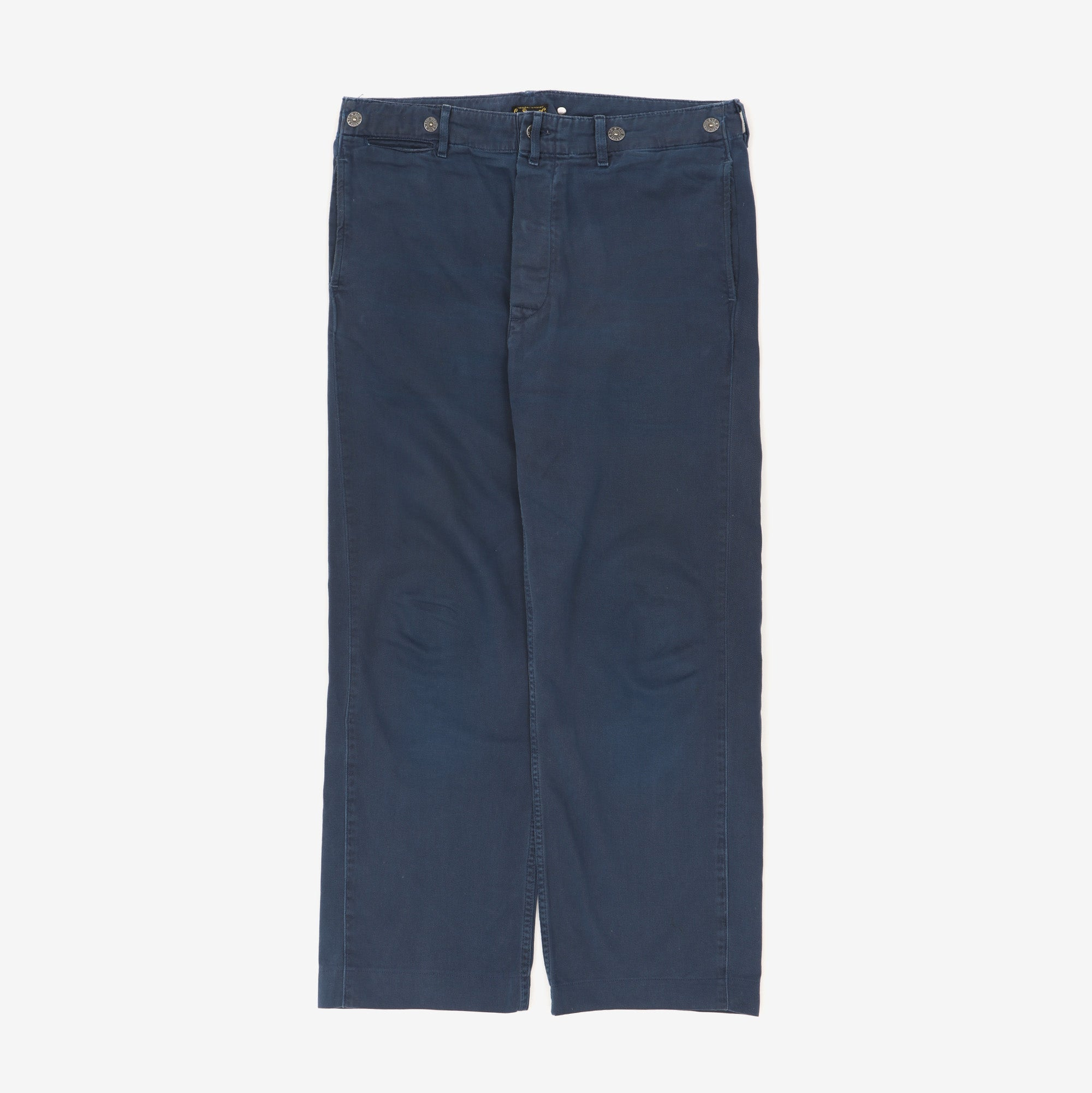 Straight Leg Cotton Twill Chinos