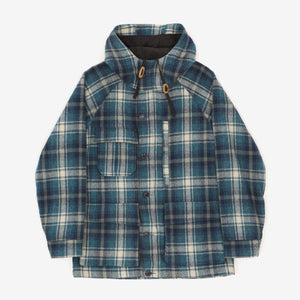 Wool Checked Parka