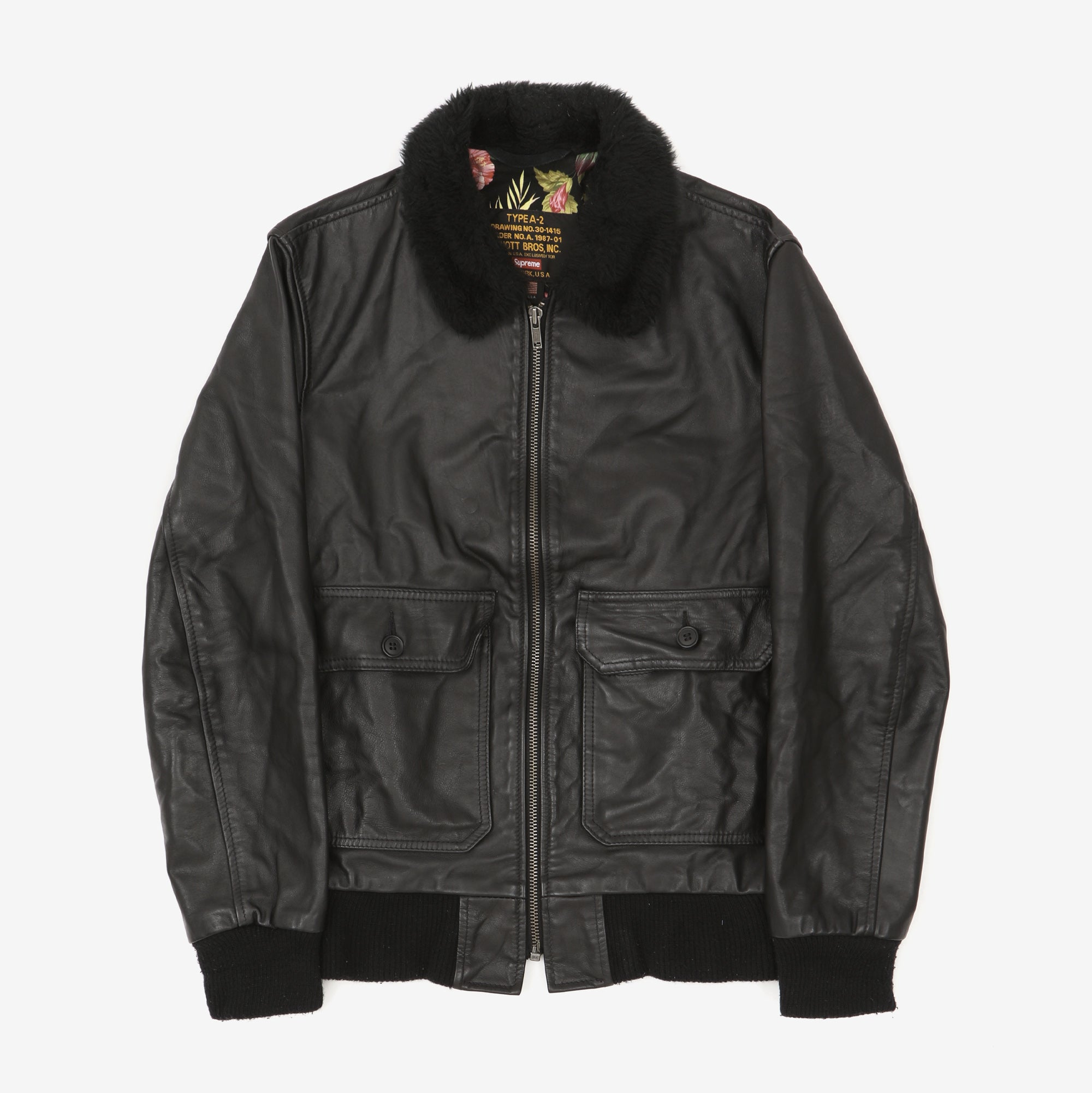 Schott x Supreme Type A-2 Leather Jacket