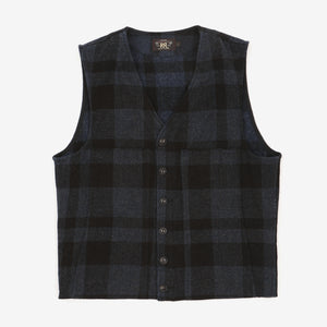 Wool Checked Vest