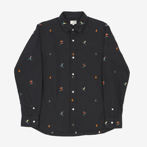 Ski Skater Print Oxford Shirt