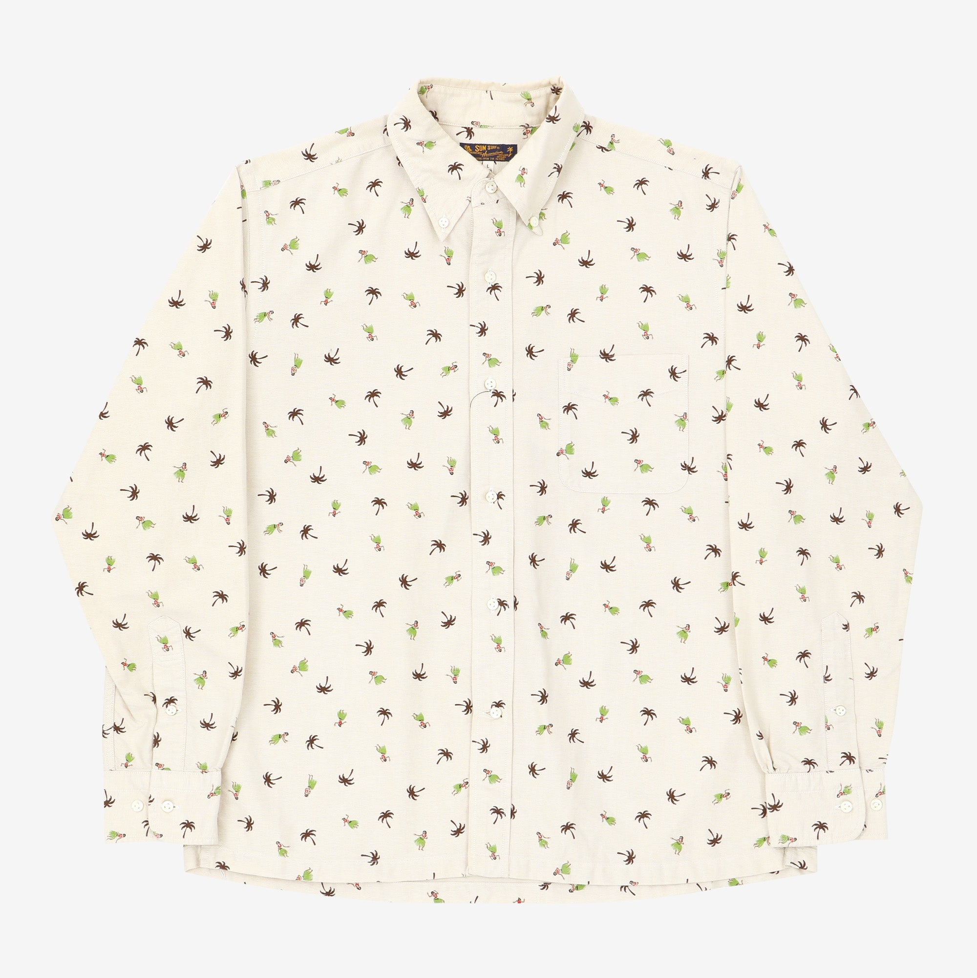 Canvas Button Down Print Shirt