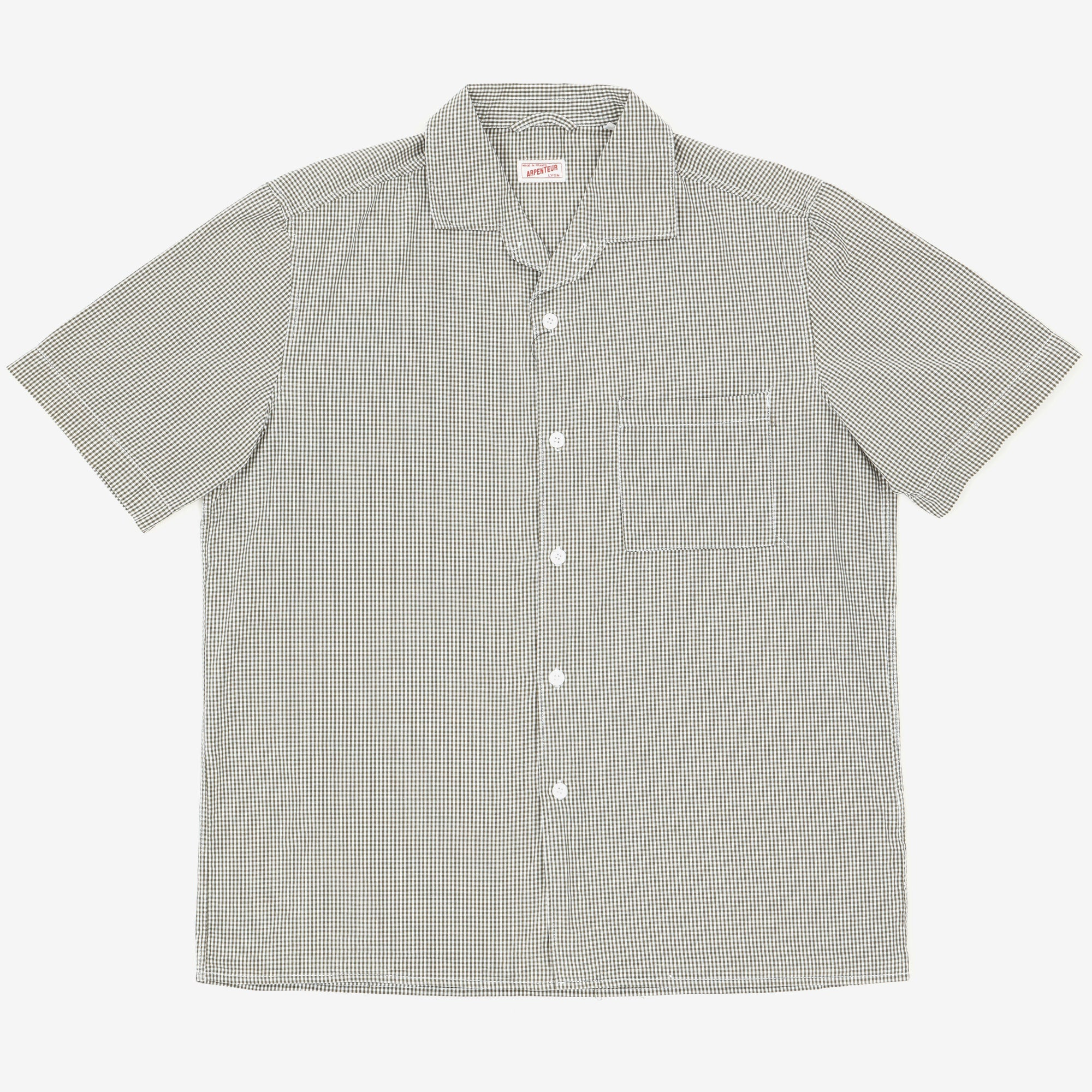 Gingham Check Camp Shirt