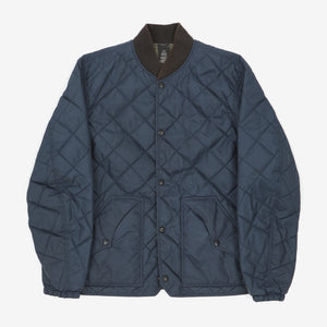 Reversible logo-embroidered quilted bomber jacket