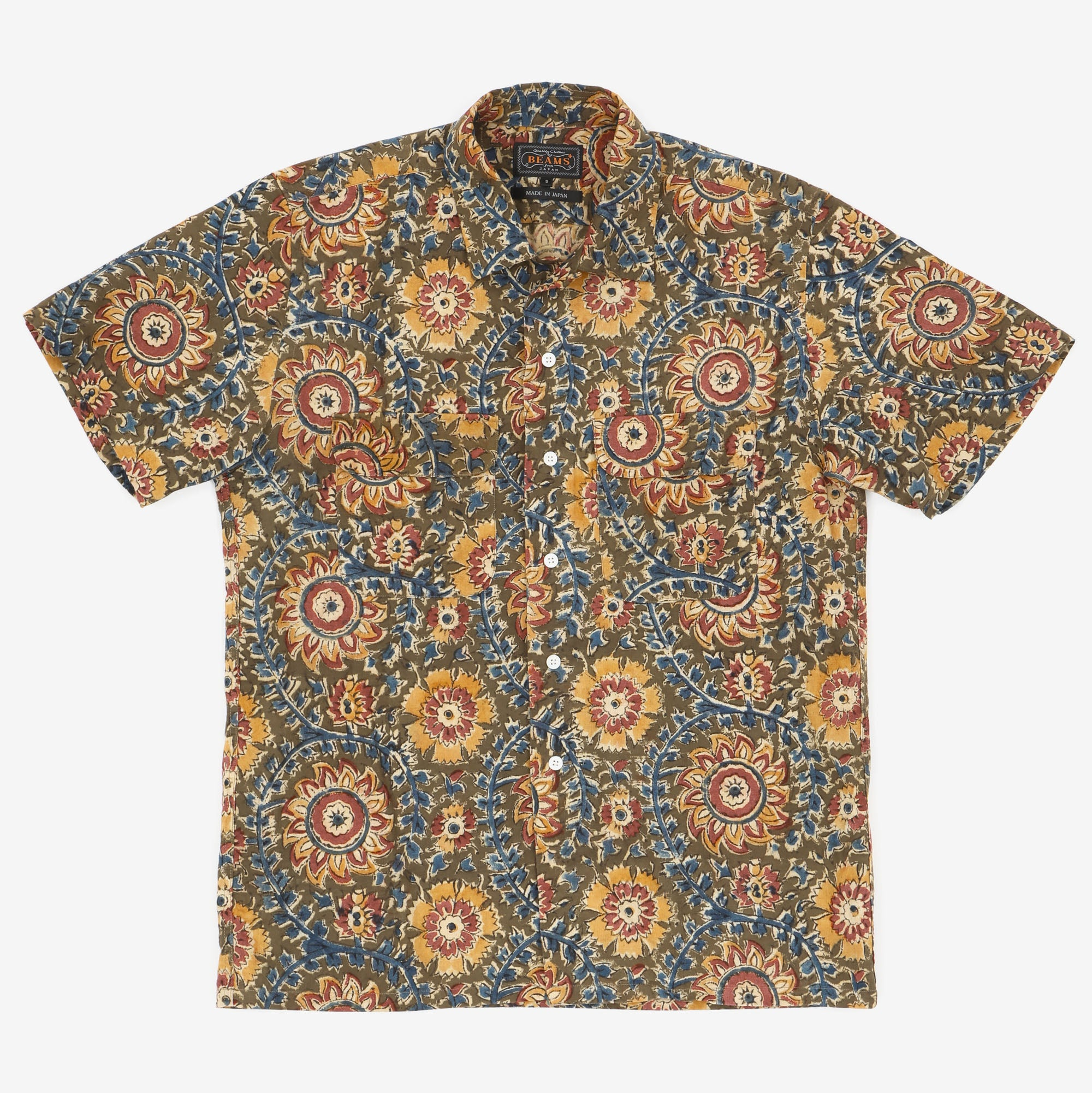 Patterned SS Work Shirt