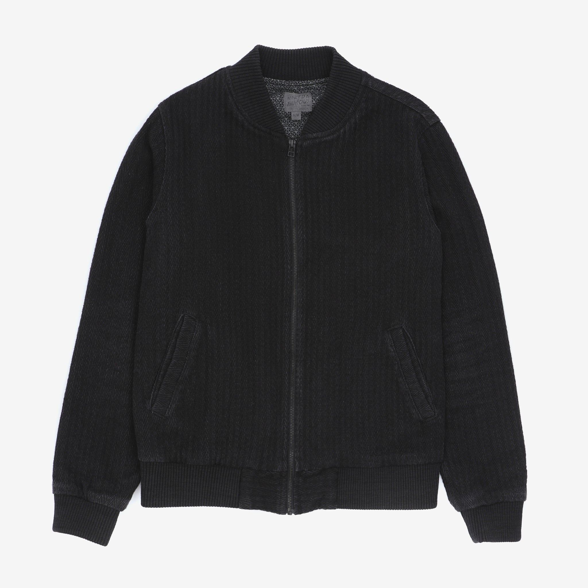Naked & famous Textured Bomber Jacket