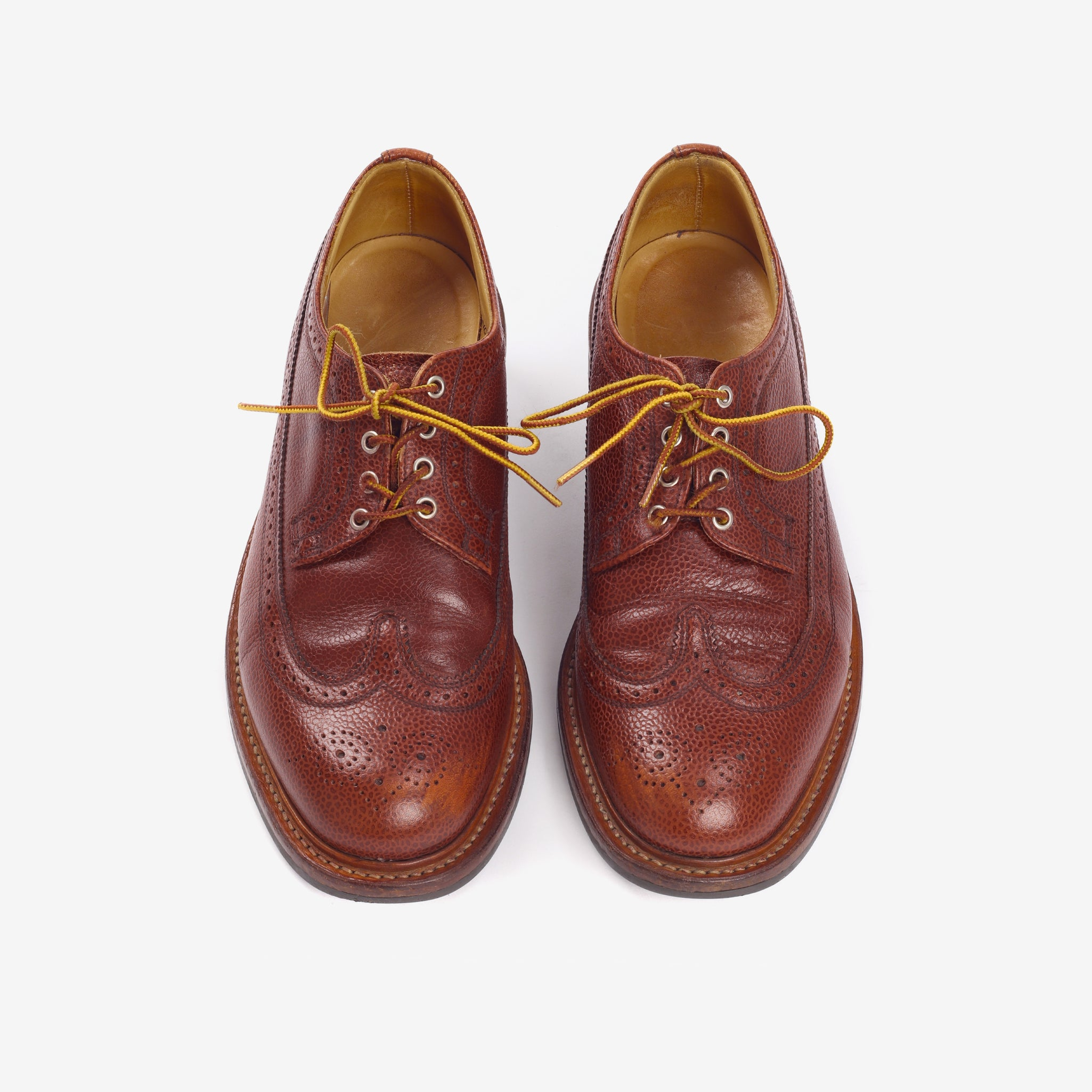 Long Wing Leather Brogues