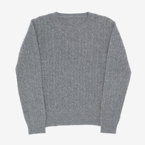 Cable Crew Neck Sweatshirt