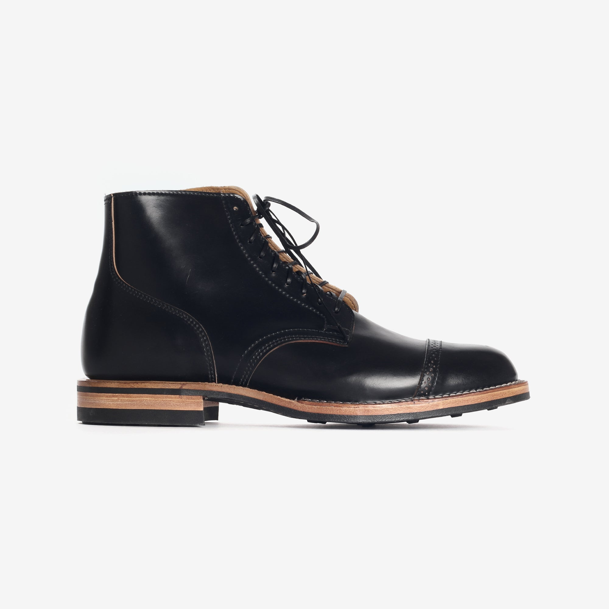 Cordovan Leather Service Boots