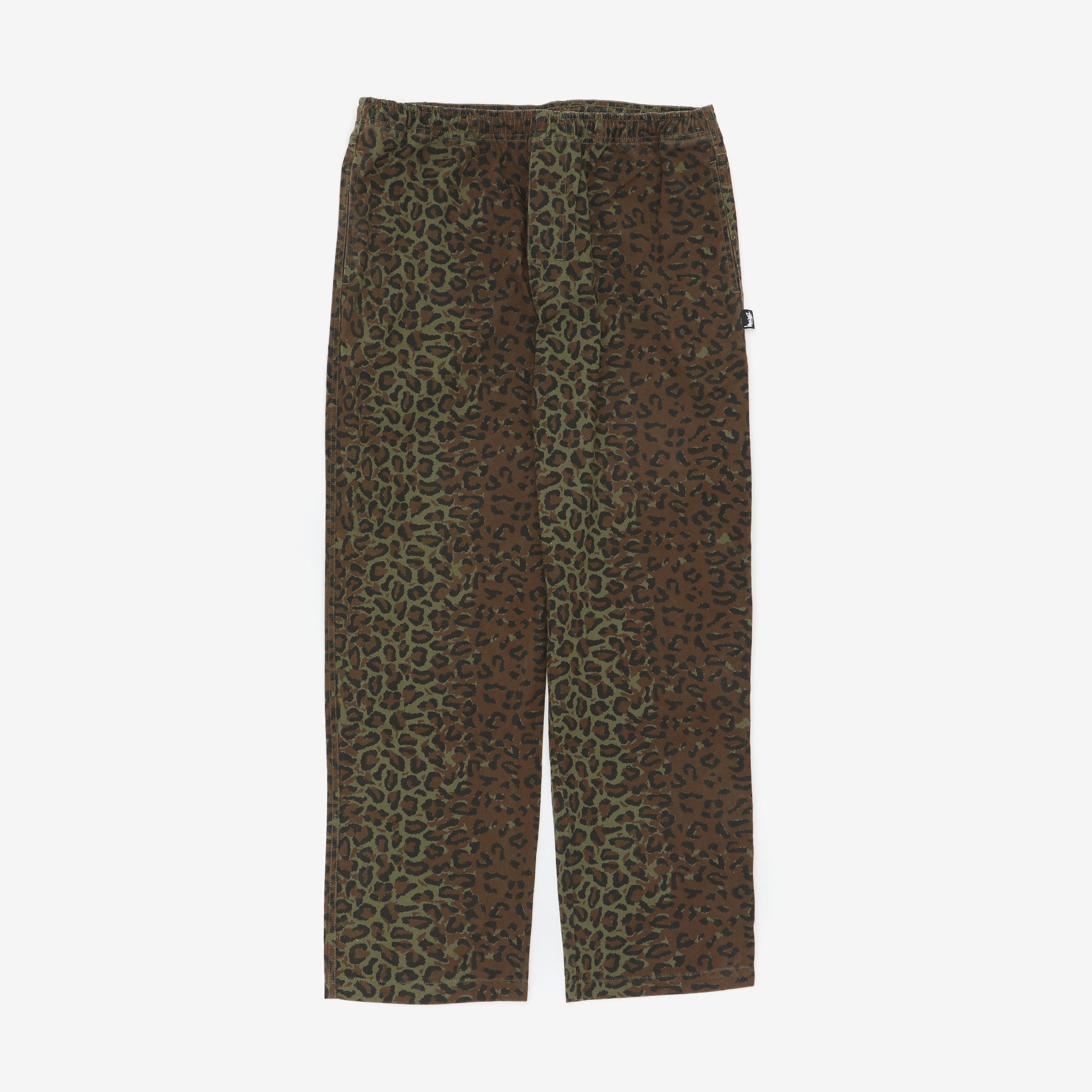 Animal Print Drawstring Trousers