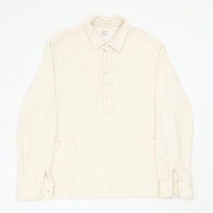 1/2 Button Cotton Pullover