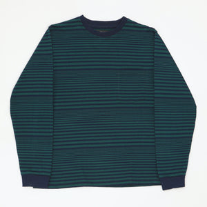 L/S Striped Long Sleeve Pocket Tee