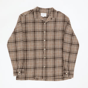 Open Collar Checked Shirt