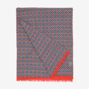 Tubular Cotton Mosaic Scarf