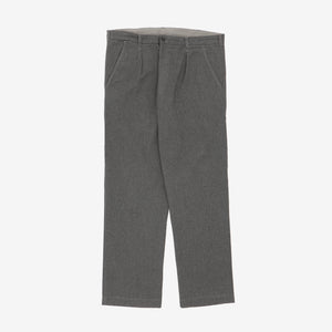 Straight Leg Brushed Cotton Chinos