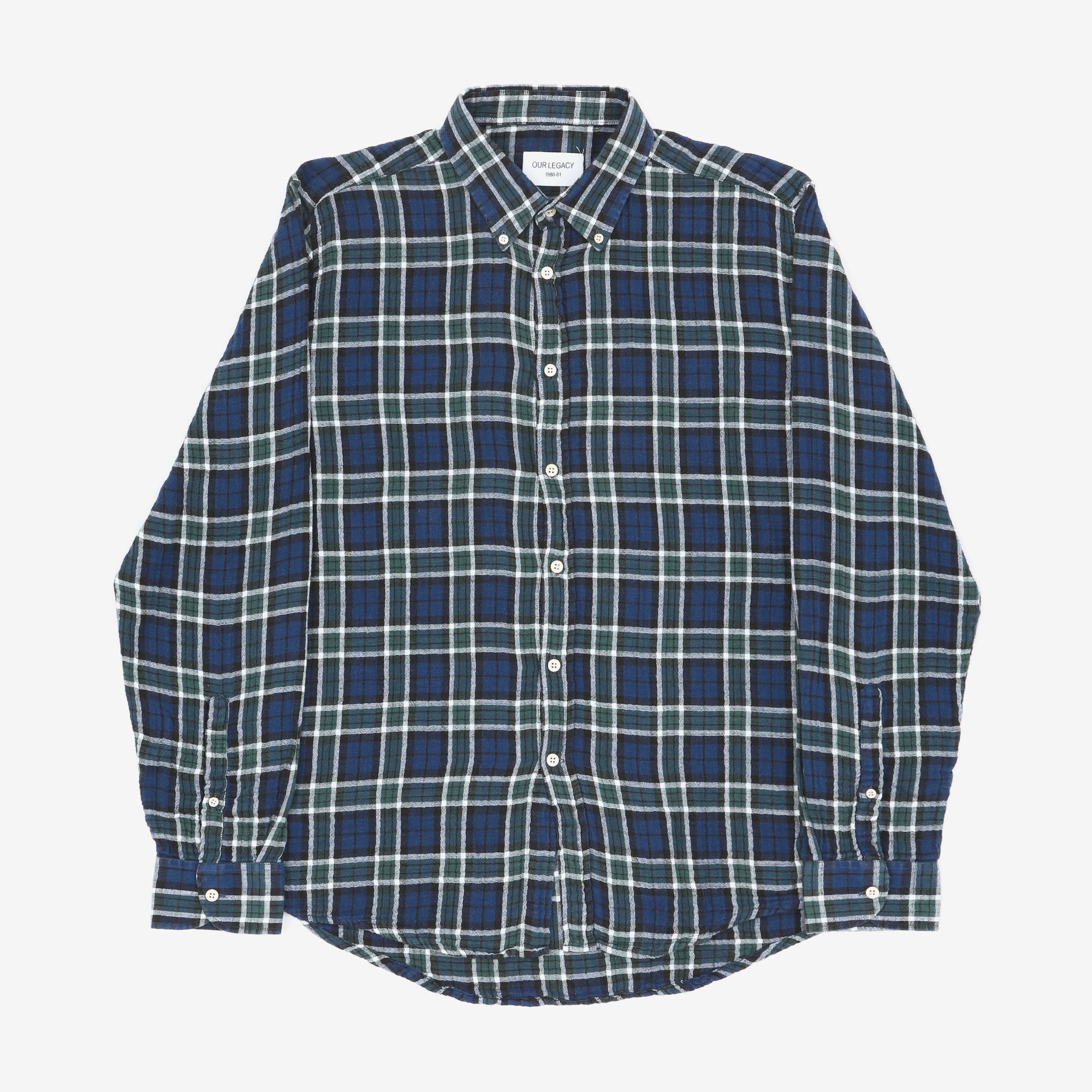 Button Down Checked Flannel Shirt