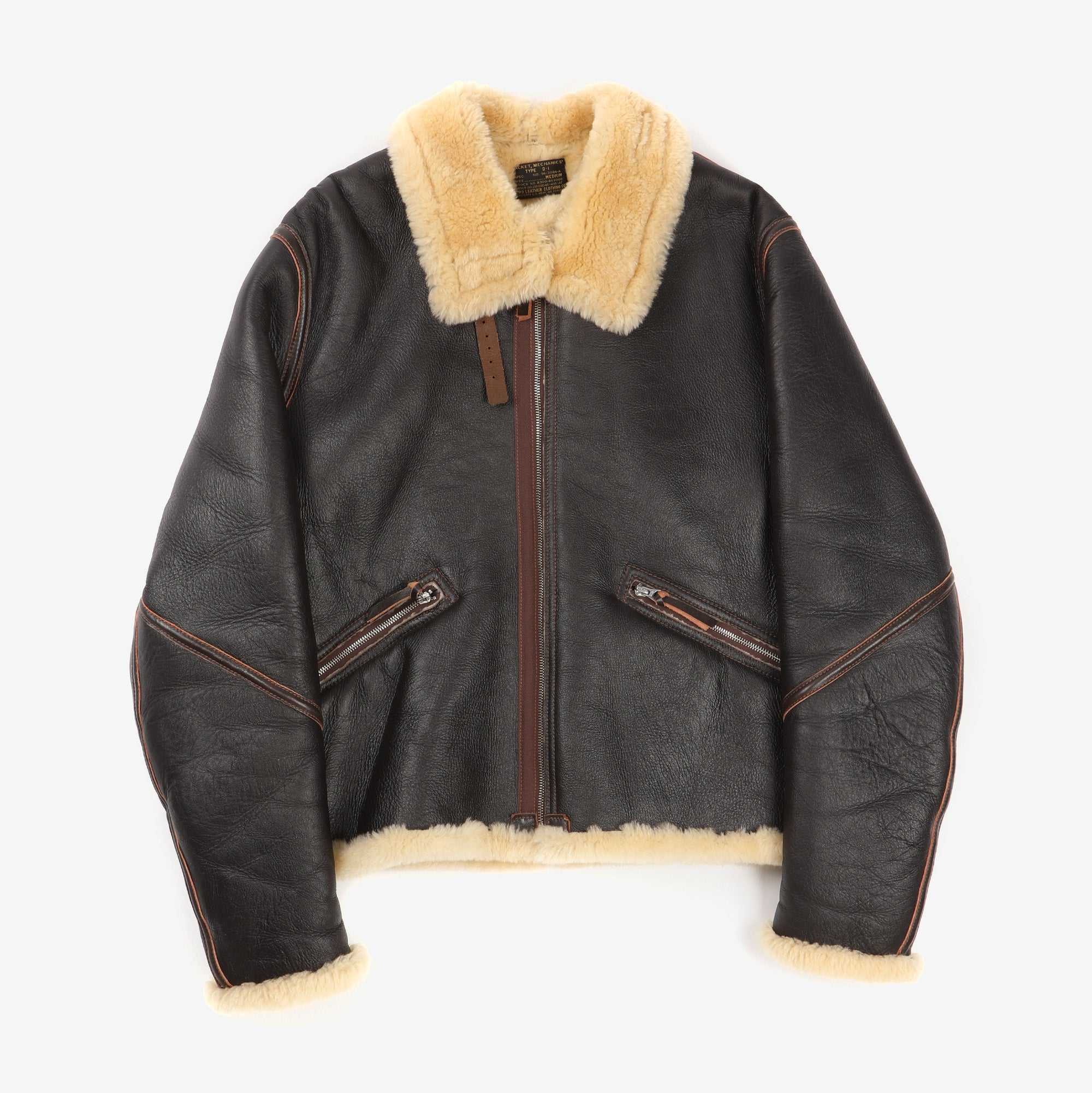Type D-1 Sheepskin Mechanics Jacket