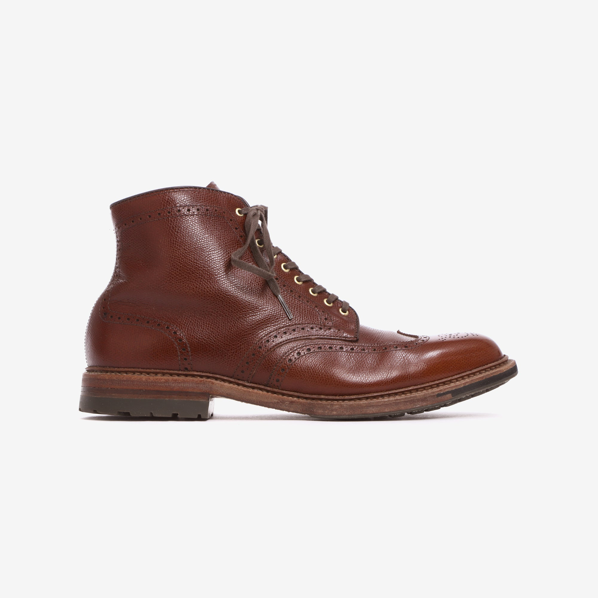 Alpine Grain Wingtip Boots