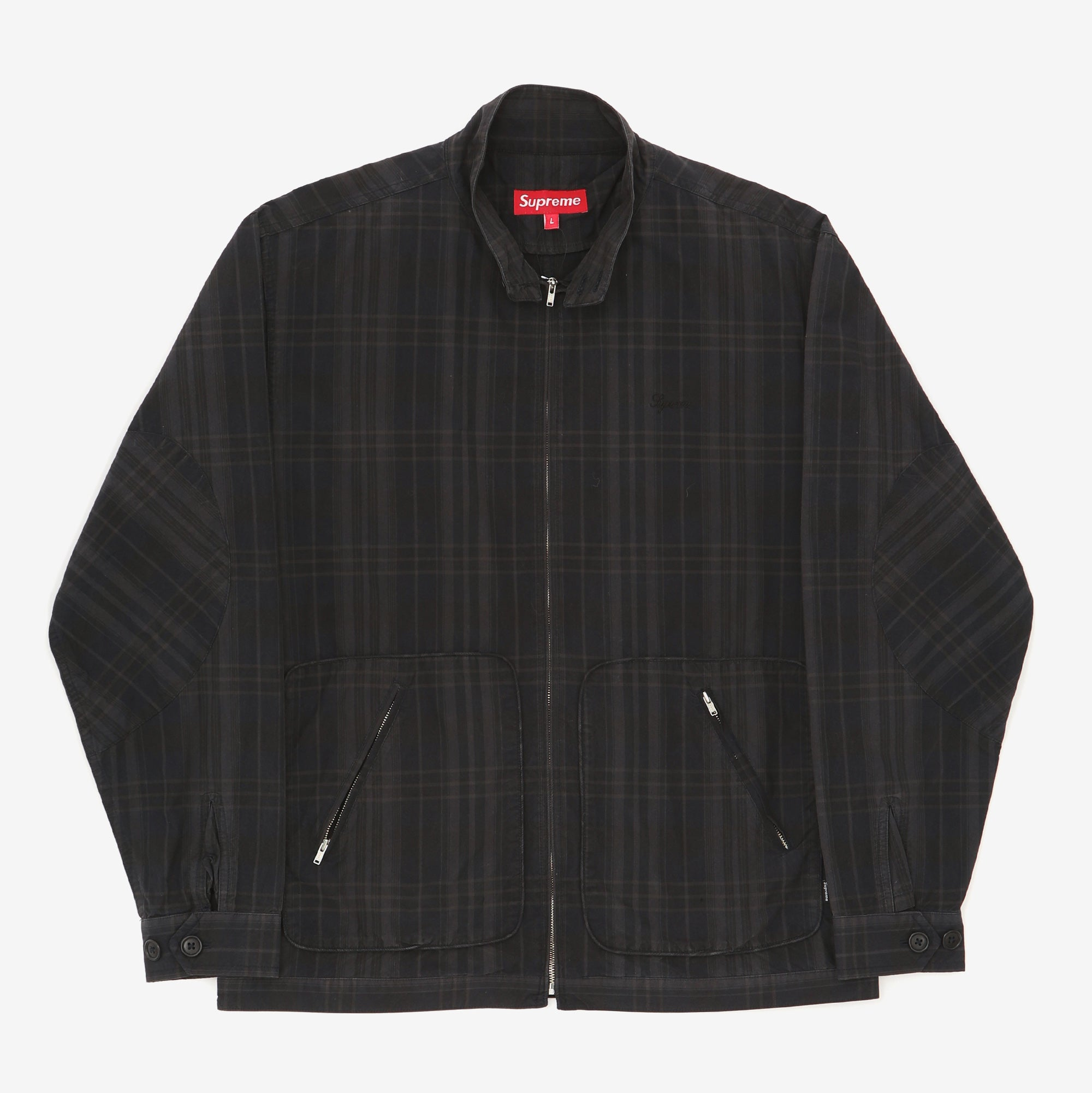 Checked Lightweight Bomber Jacket