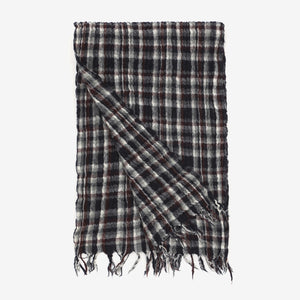 Check Lambswool Scarf