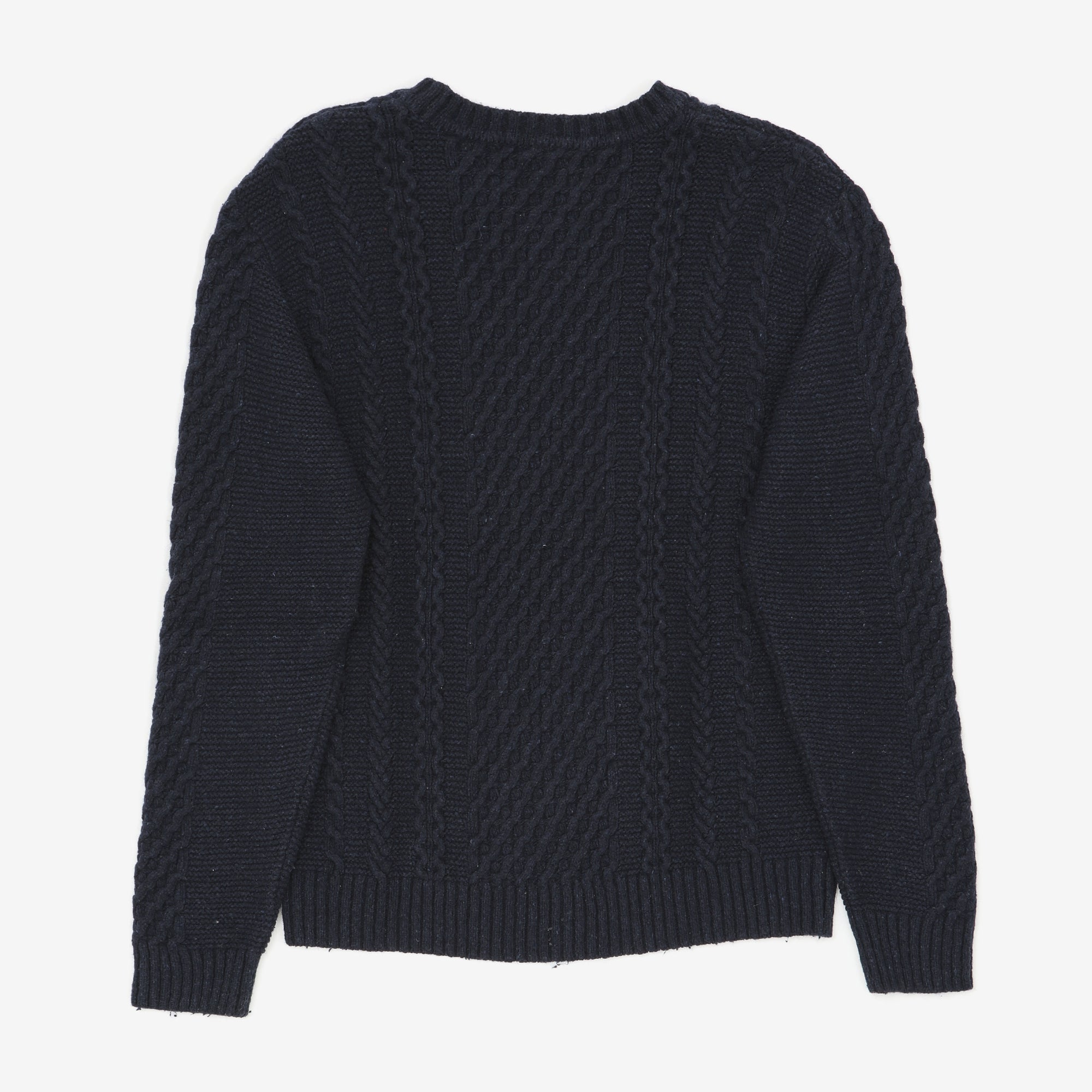 Cable Knitted Lambswool Sweater