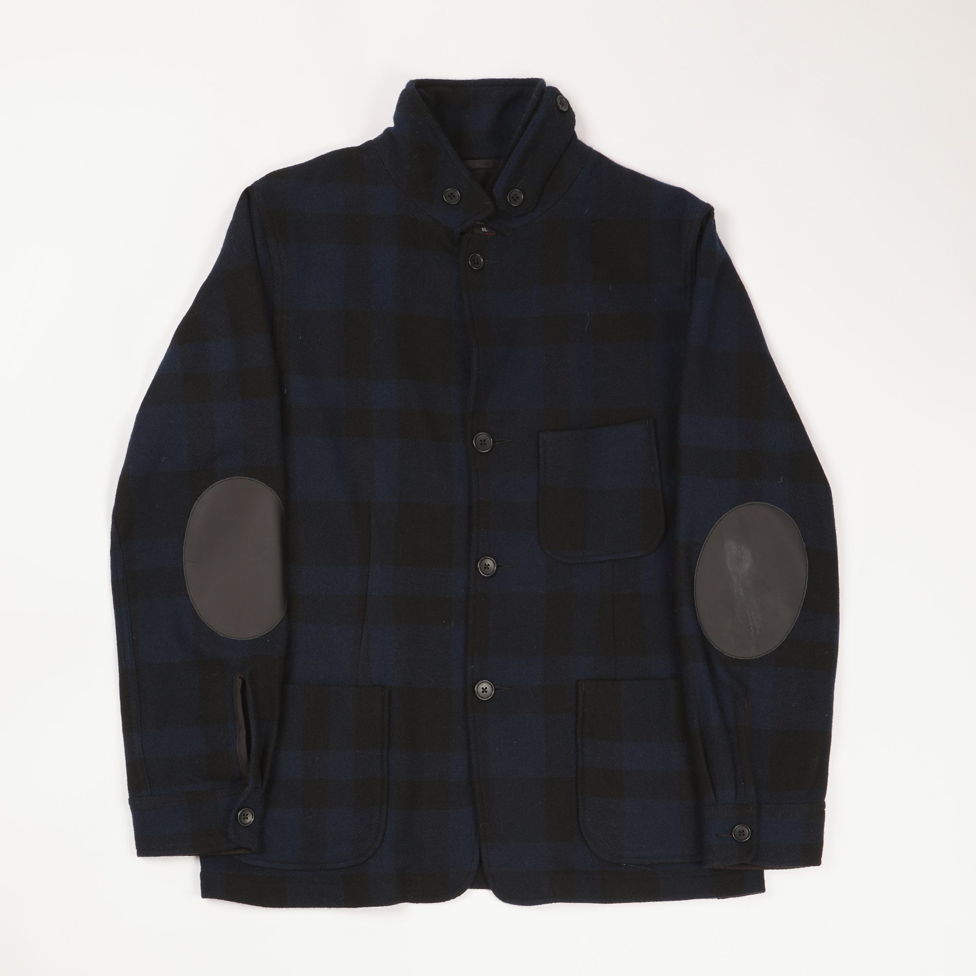 Lightweight Plaid Wool Blend Chore Coat