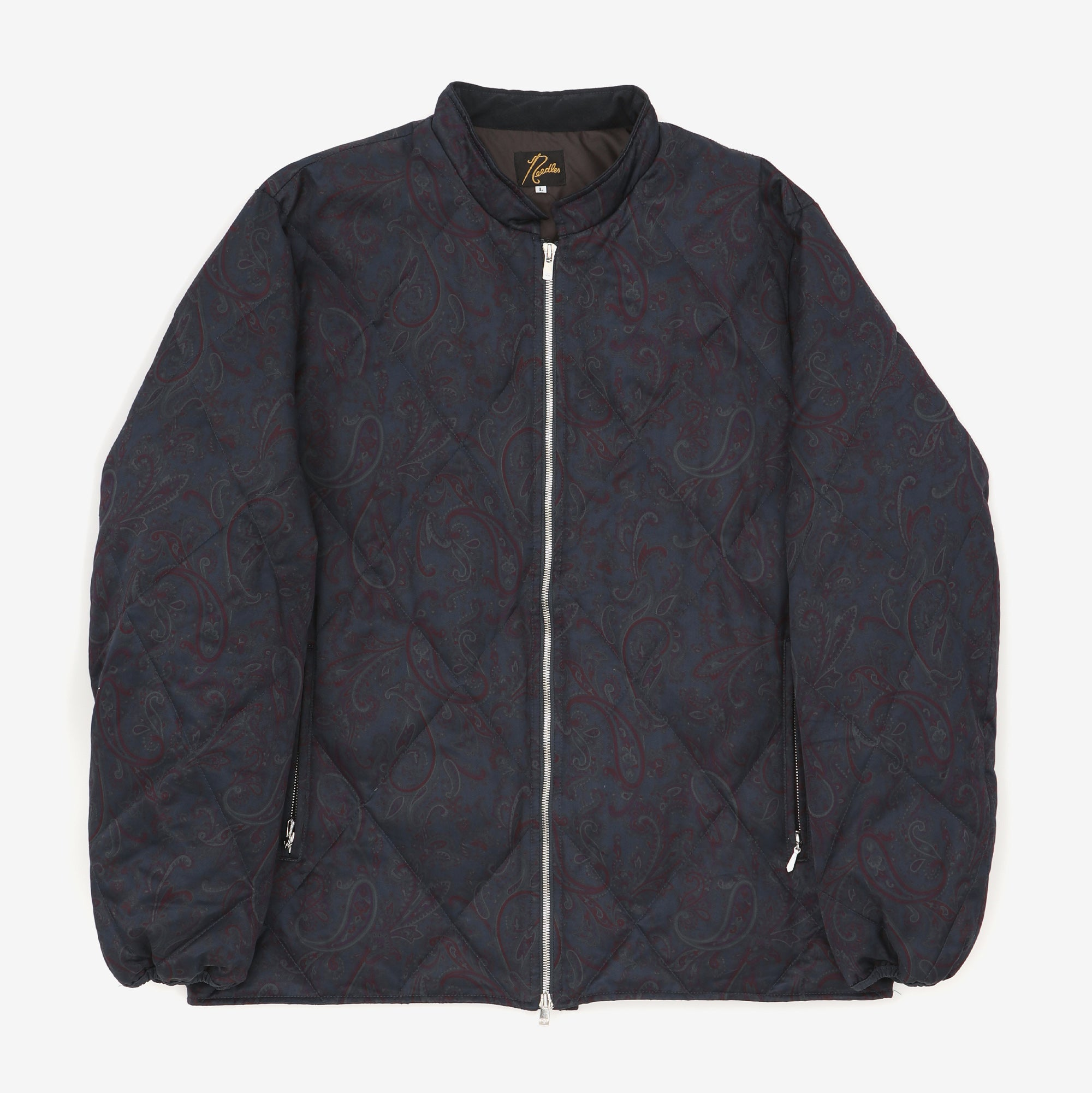 Diamond Quilted Paisley Down Jacket
