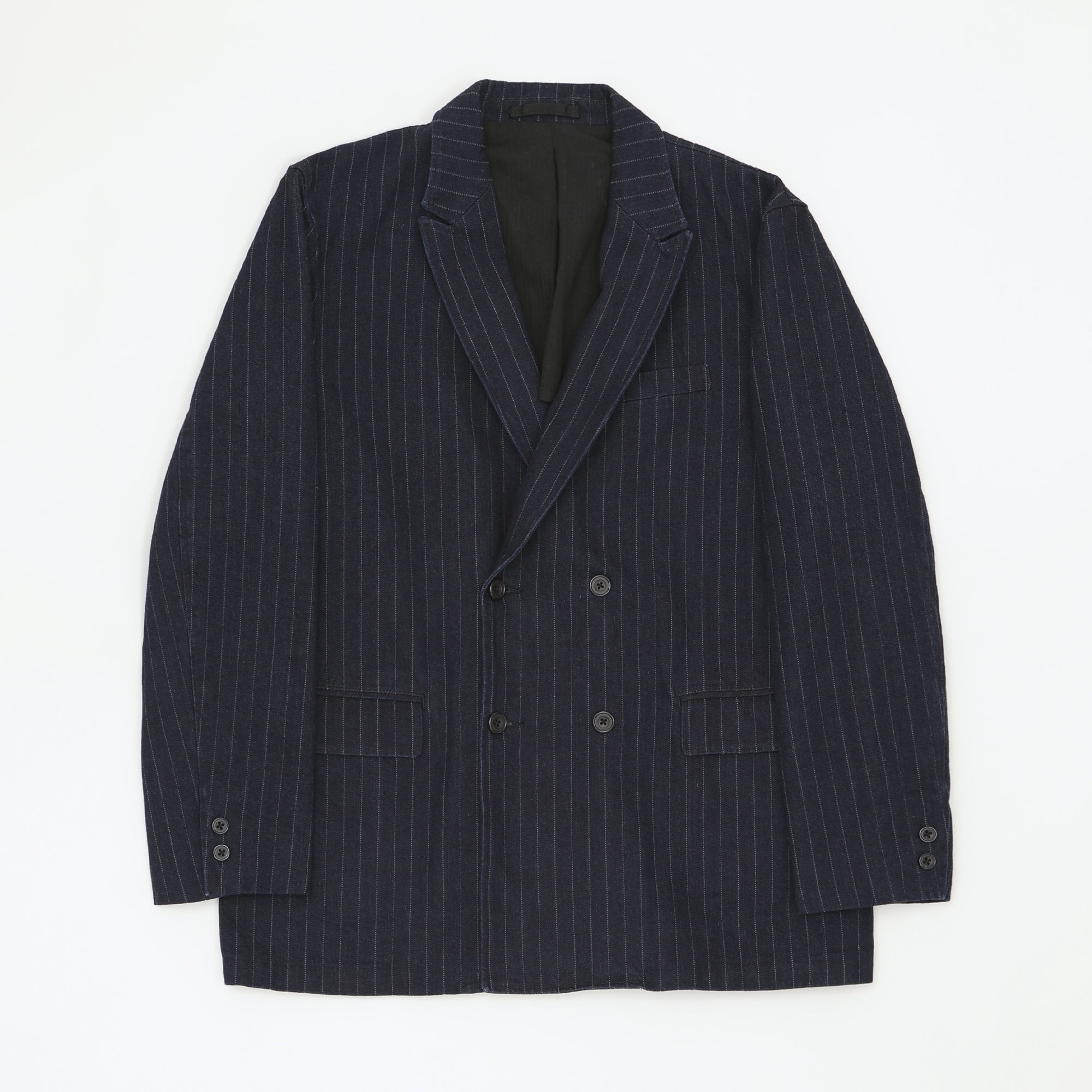 Double Breasted Pinstriped Blazer