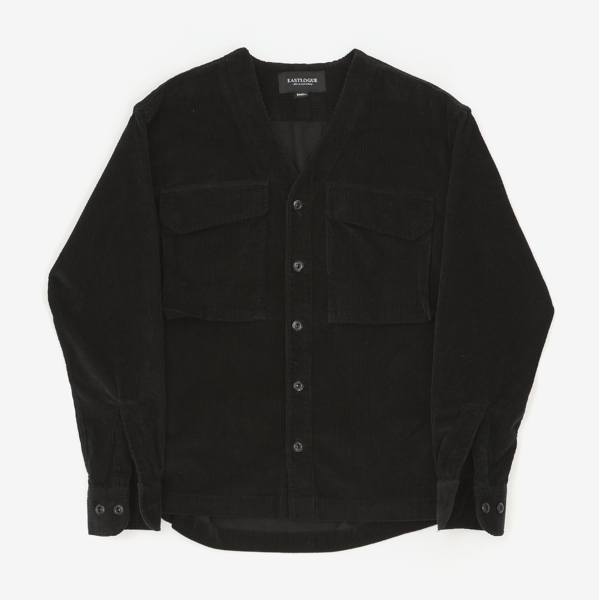 V Neck Corduroy Shirt