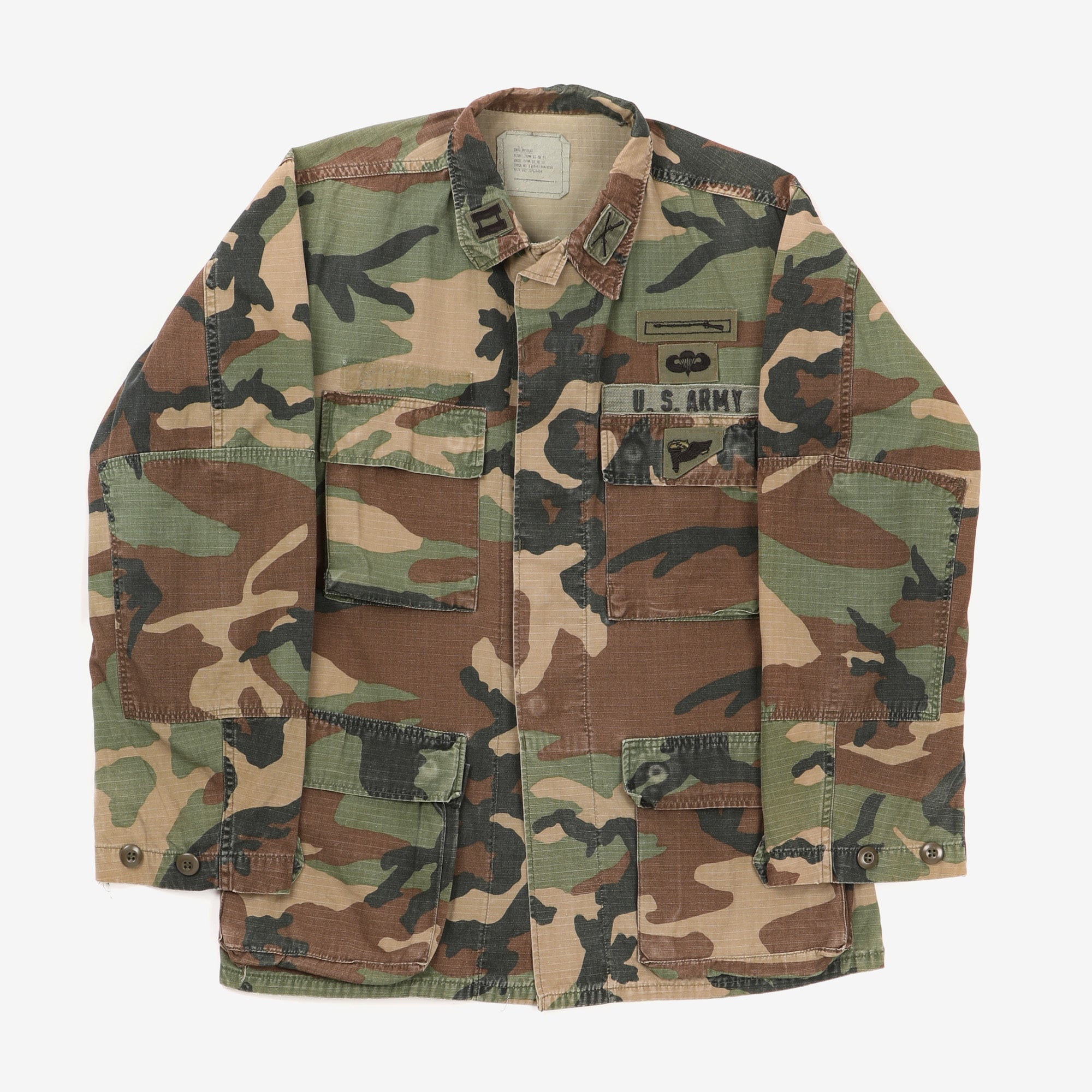 Ripstop Woodland Camo Airborne Jacket