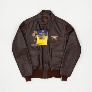 Glenview Naval Air Station Naval AN-J-3 Leather Jacket