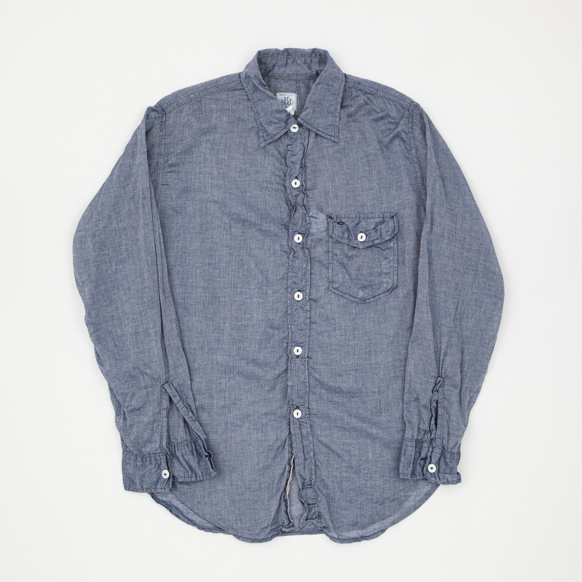 Post Overalls Lightweight Chambray Shirt