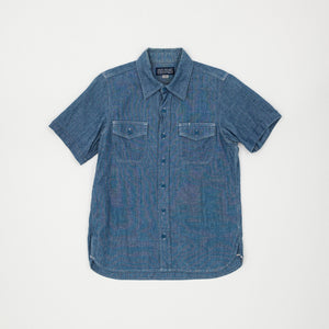 Iron Heart U.S Navy 6.5oz Chambray Short Sleeve Shirt