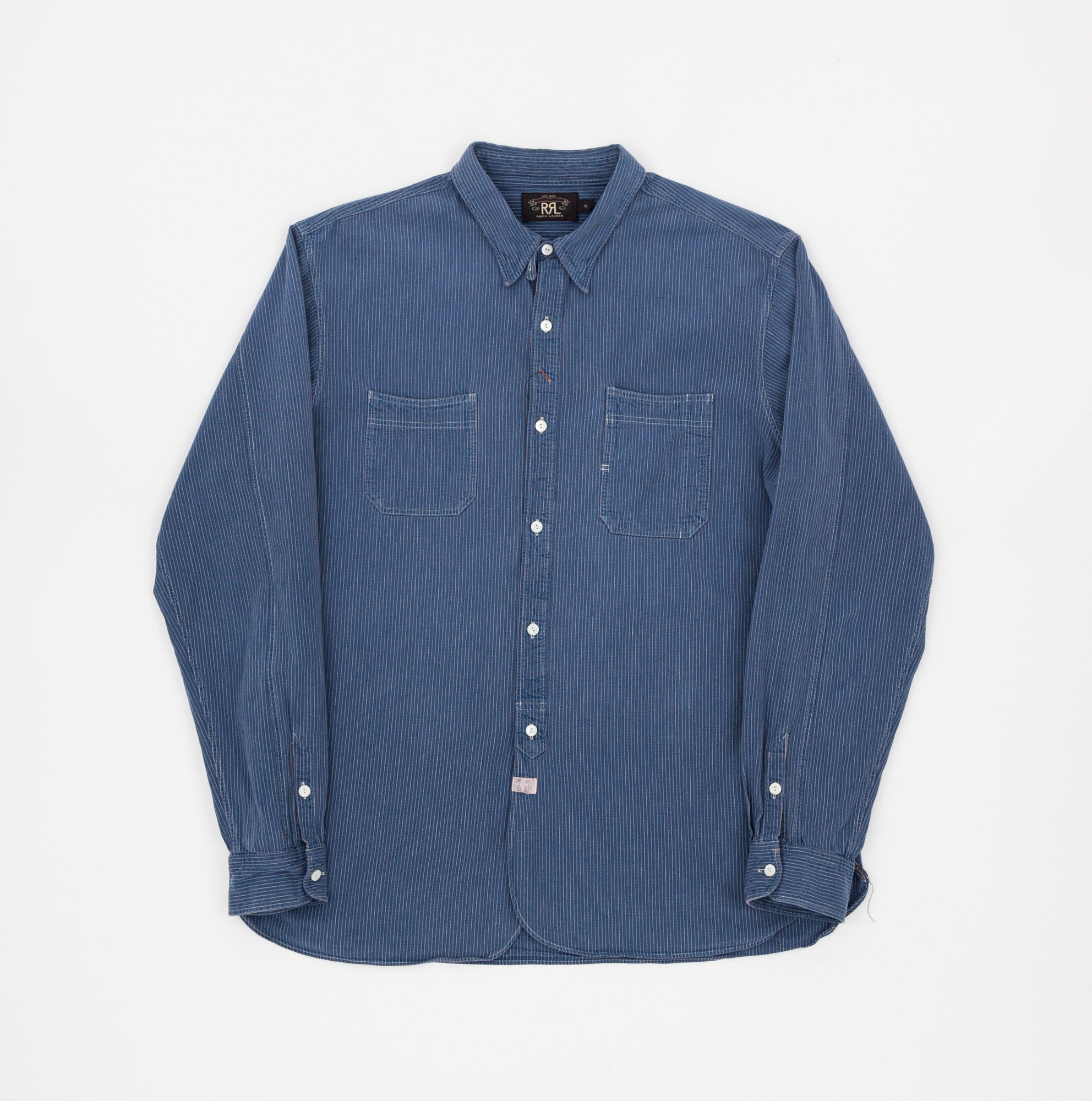 RRL Stripe Denim Work Shirt