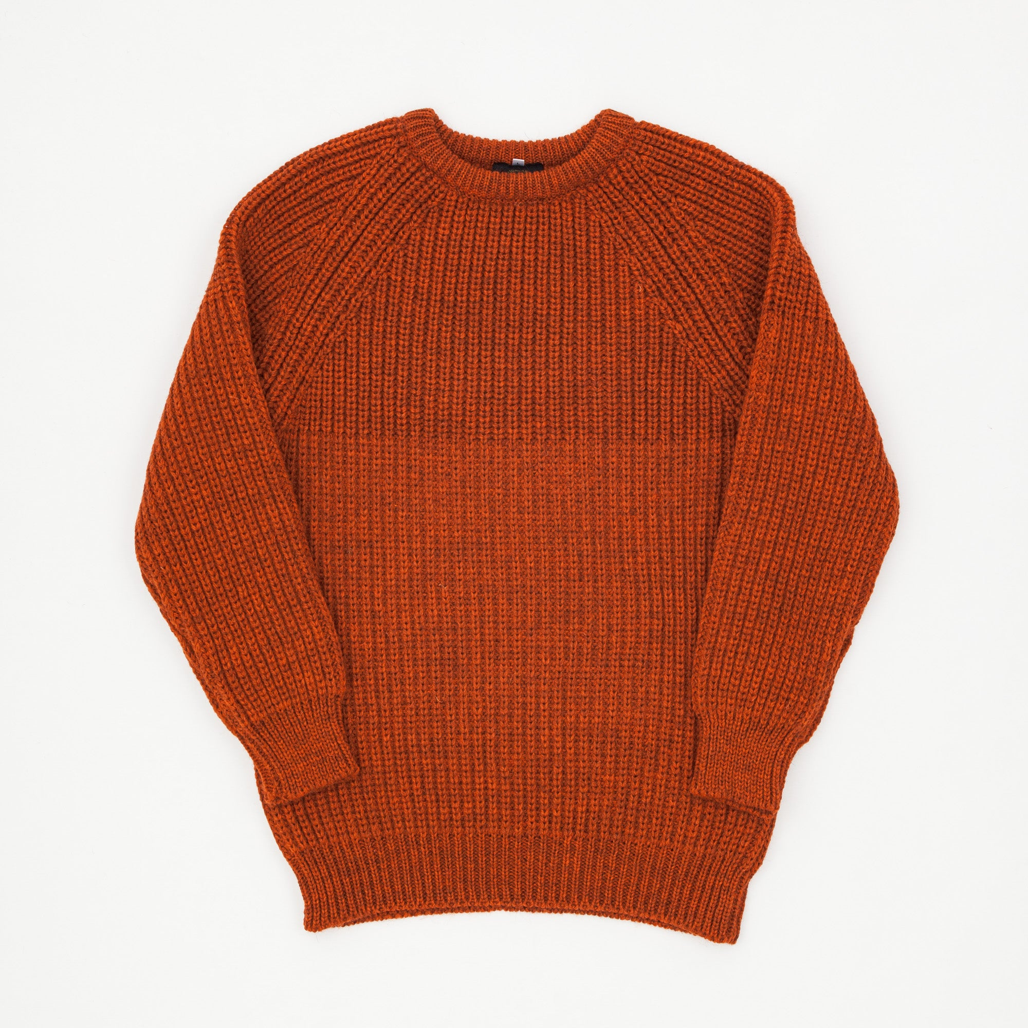 Crewneck Chunky Knit Wool Sweater