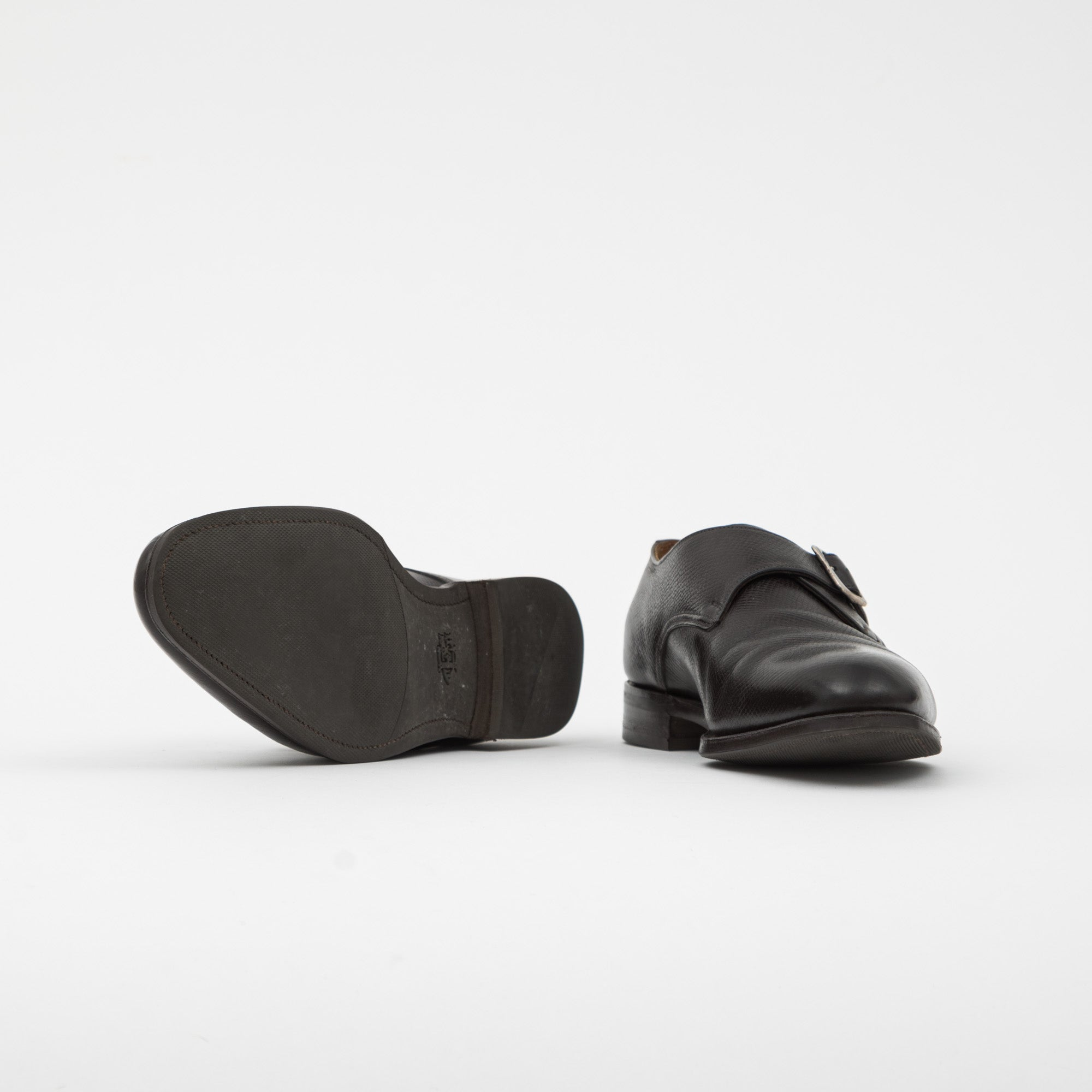 Clapham Utah Leather Monk Strap Shoe