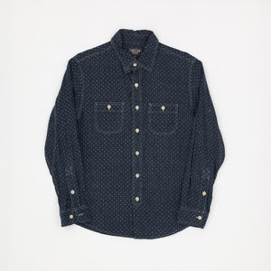 Taylor Supply Co. Linen Star Pattern Shirt