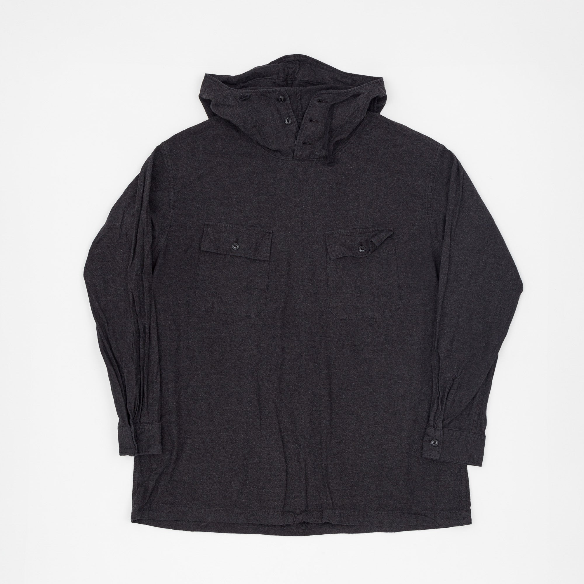 Charcoal Flannel Cagoule Shirt