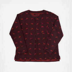 Engineered Garments Animal Print Round Collar Pullover
