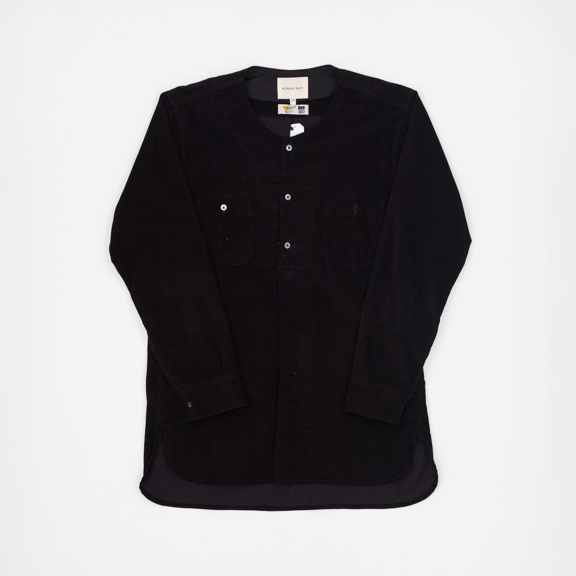 Nicholas Daley Corduroy Collarless Shirt