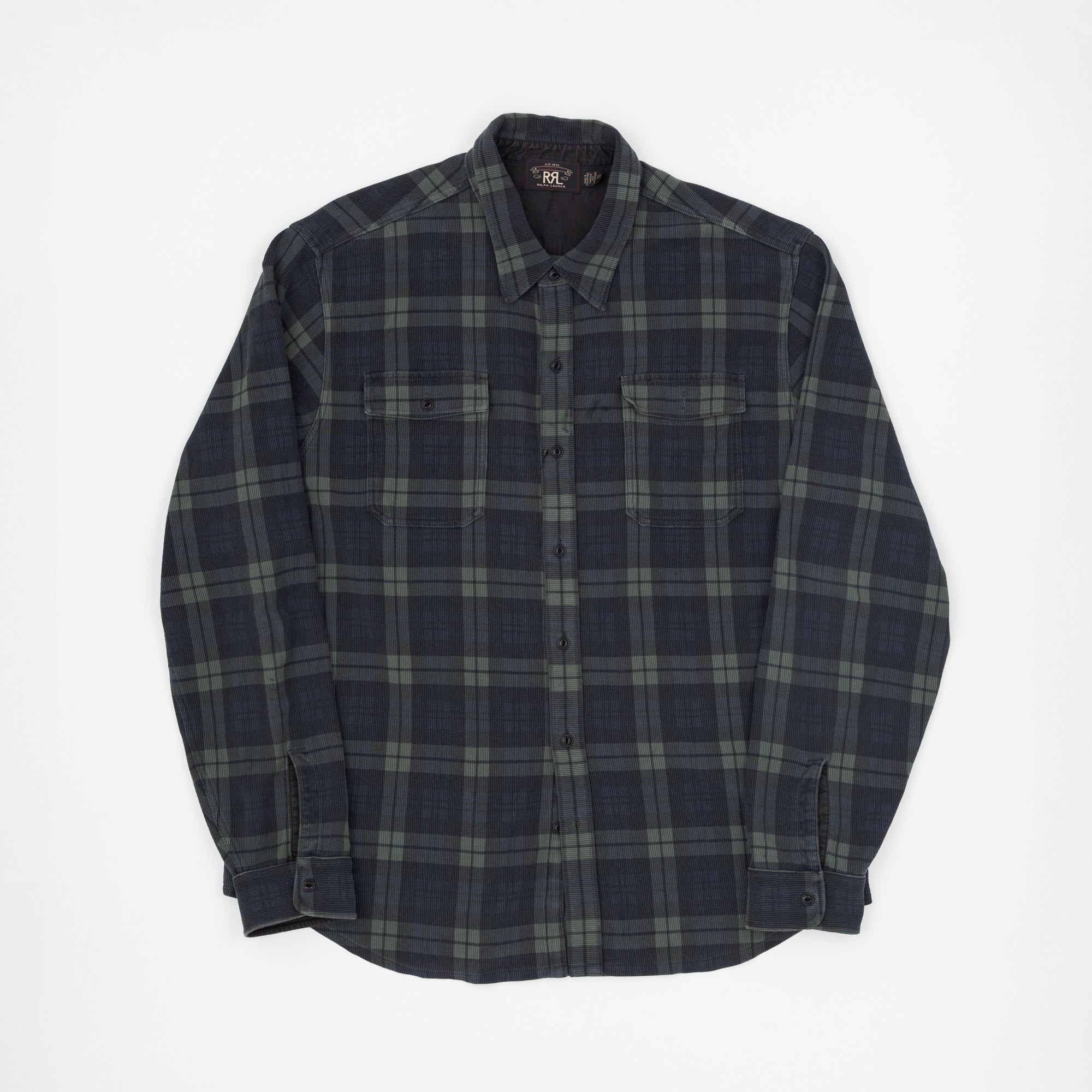 RRL Checked Flannel Work Shirt
